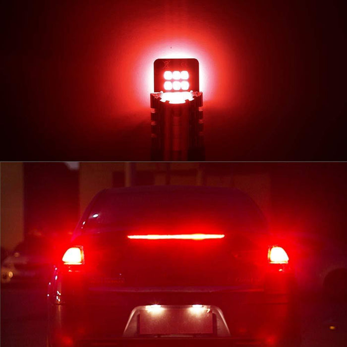 AUXITO Red 7443 7440 7441 7444 T20 992 LED Replacement Bulbs for Brake Tail Lights, Set of 2