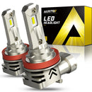 H11 H9 LED Bulbs Forward High Beam and Low Beam 12000LM CANBUS 6000K White