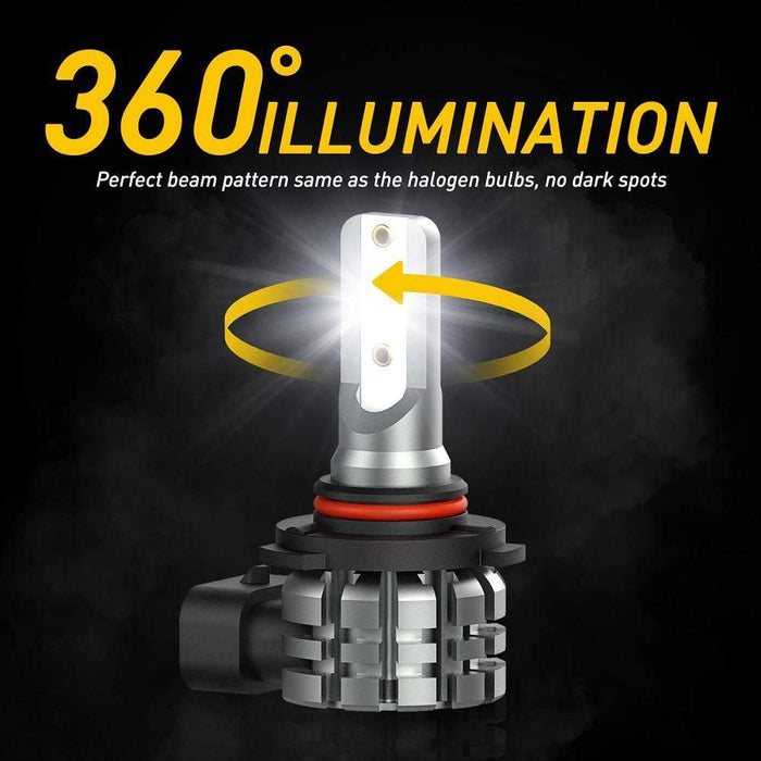 UXITO 9145 9140 H10 9055 LED Fog Light Bulb No Polarity Super White L3 Series 4000LM 6000K