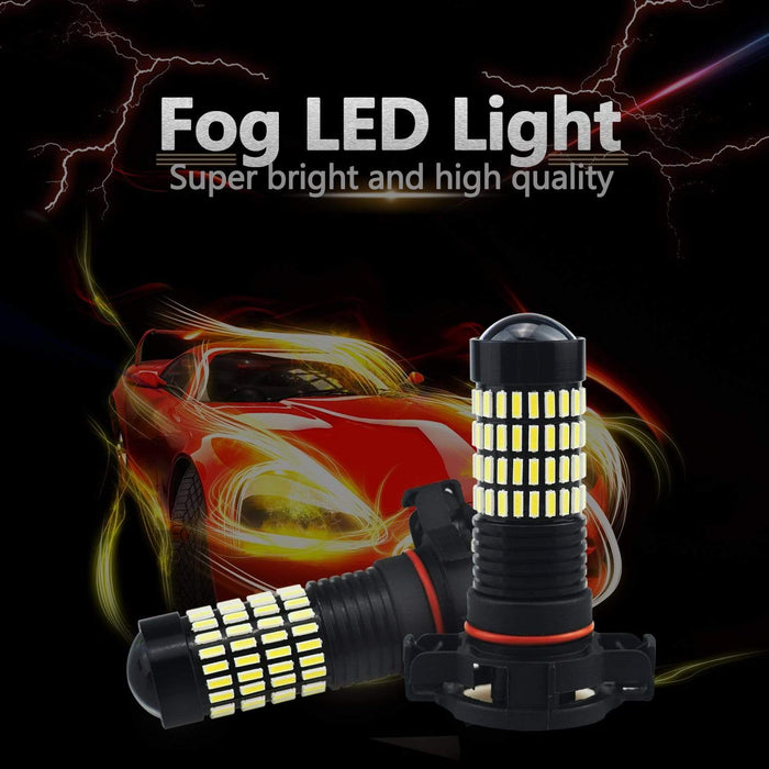 Xenon White 102-SMD LED Fog Light Bulbs/DRL with Projector for socket 5202 4014  5201 H16