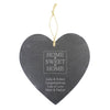 Personalised Home Sweet Home Large Slate Heart