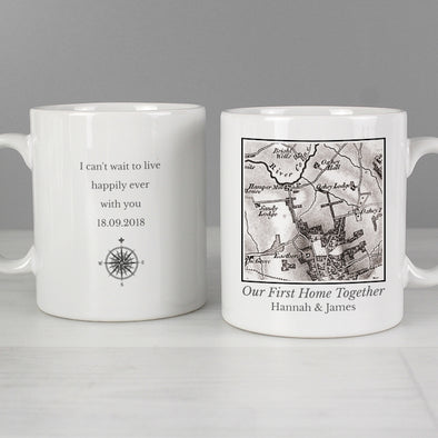 Personalised 1805 - 1874 Old Series Map Compass Mug