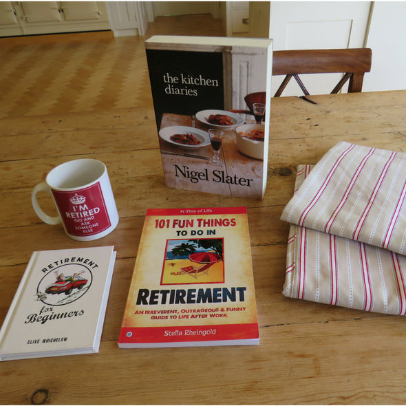 Retirement gift box for cooking enthusiasts