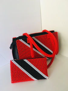 Trinidad  Tobago Flag Theme Bag.