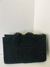 Solid Black Handcrafted Beaded Handbag