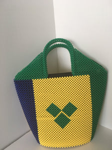St Vincent Flag Beaded Handbag