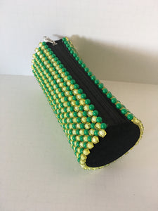 Lime Green and Yellow Color Beaded Clutch