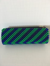 Blue and Green Color Beaded Clutch