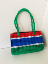Gambia Flag Theme HandCrafted Beaded Handbag.