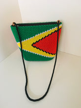 Guyana Flag Theme HandCrafted Beaded Handbag.