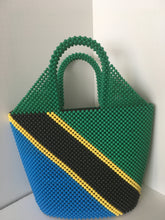 Tanzanian Flag Beaded Handbag