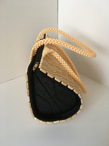 Beige color Handcrafted Beaded Purse