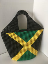Jamaican Flag Beaded hand bag