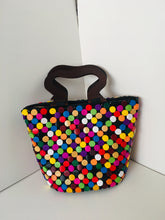 Multiple colors Handcrafted wooden Handbag.