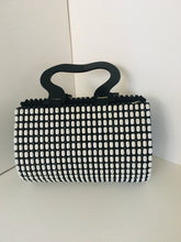 Black and white Handcrafted Beaded Purse