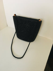 Solid Black HandCrafted Beaded Purse