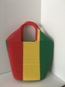 Mali Flag beaded handbag
