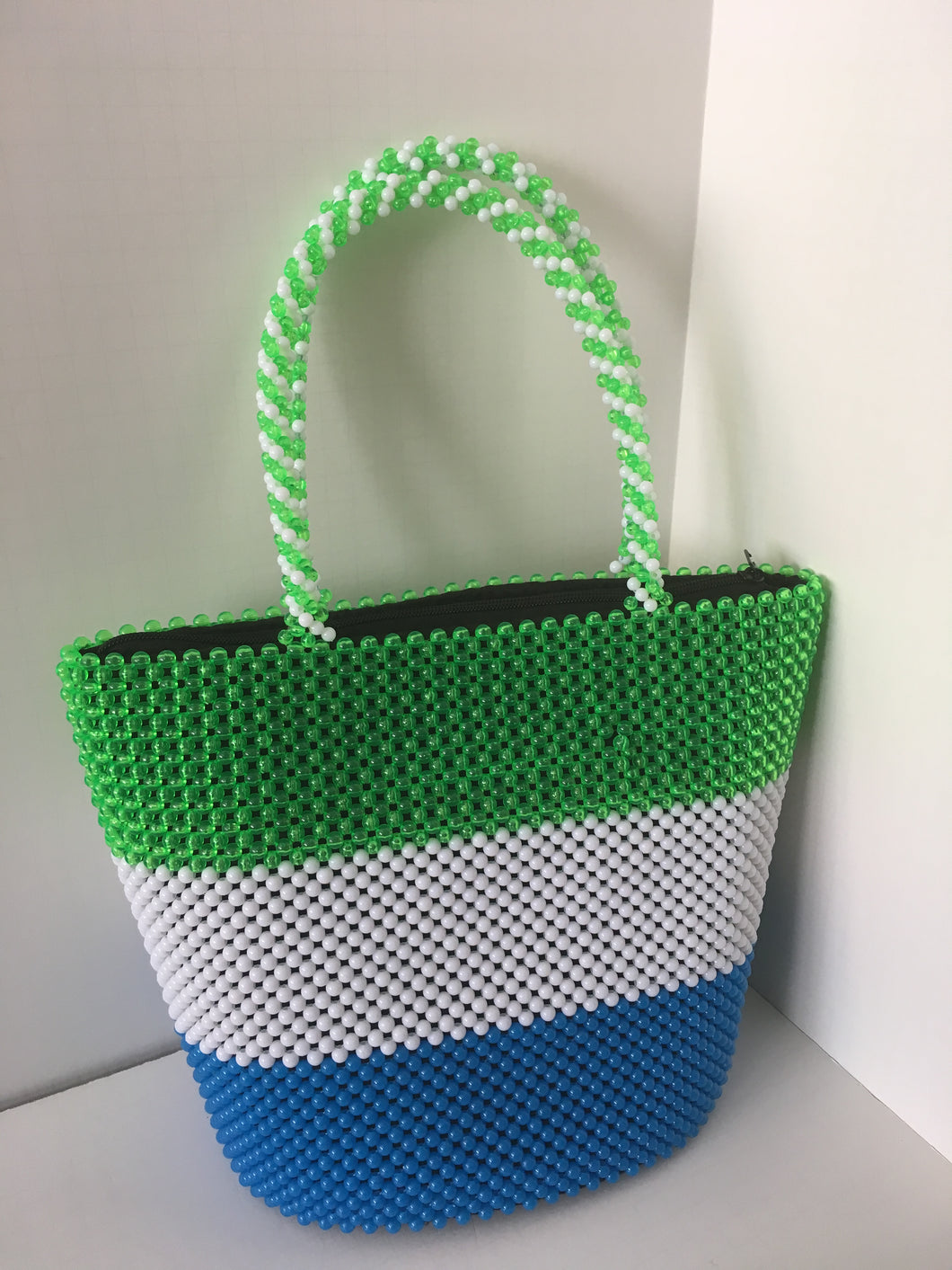Sierra Leone Flag Beaded handbag
