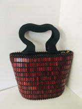Coffee Brown Handcrafted Beaded Handbag.