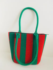 Sold Red and Green Beaded Handbag