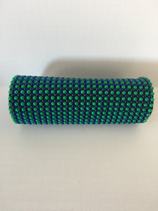Blue and Green beaded clutch