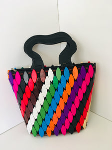 Multiple colors Handcrafted Wooden Handbag