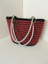 Red and black handcrafted Beaded Purse.