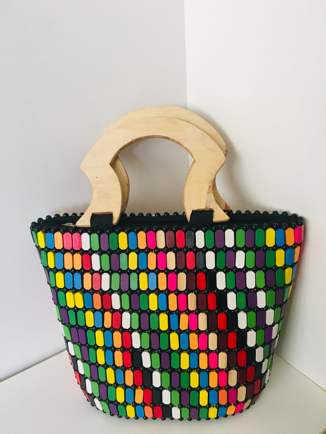 Multiple colors Handcrafted Beaded Handbag.
