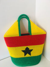 Ghana Themed flag Handcrafted Beaded Handbag.