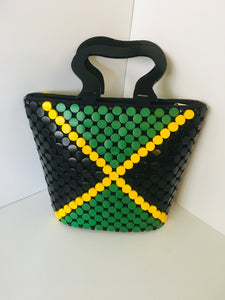 Jamaican Flag Theme HandCrafted,made out of wooden materials.