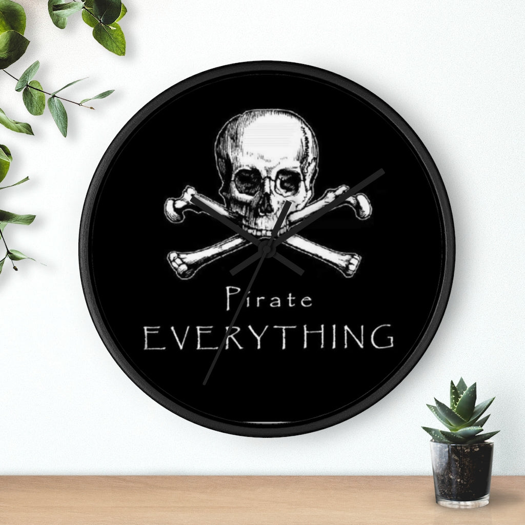 Pirate Everything Wall clock