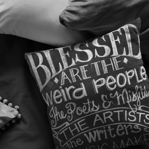 Blessed are the Weird Ones Pillow