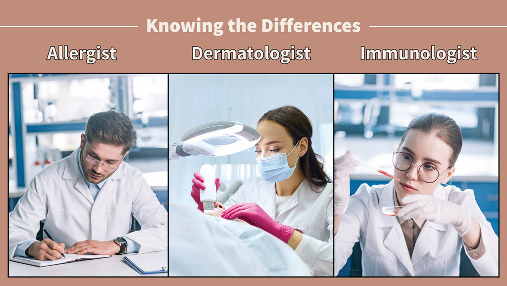The Differences Between an Allergist, a Dermatologist, and an Immunologist