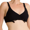 Women's Side-tie Bra ( Black )
