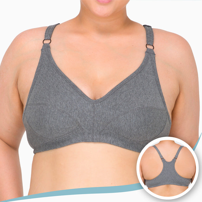 Women's Racer Back Pullover Bra ( Queen | Melange Grey )