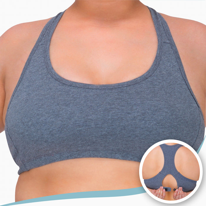 Women's Racer Back Croptop Bra (Melange Grey)