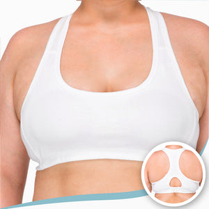Women's Racer Back Croptop Bra ( Natural )