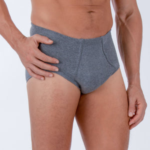 Men's Hipster Brief ( Melange Grey | 2 pack)