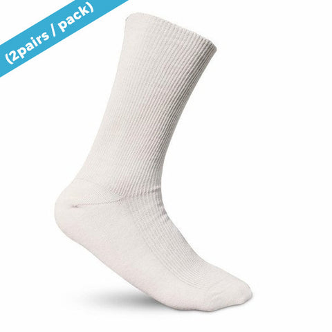Elite Elastic-free 100% Cotton Socks Natural (2-pack)
