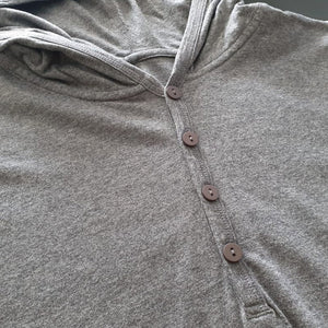 Men's Long Sleeve Lightweight Jersey Hoodie (Melange Grey)