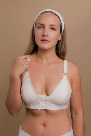 Women's Front Closure Support Bra ( Regular | Natural )