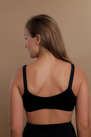 Women's Drawstring Bra ( Black )