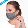 Hypoallergenic Face Mask with Adjustable Earloops ( 2/pack | Melange Grey )