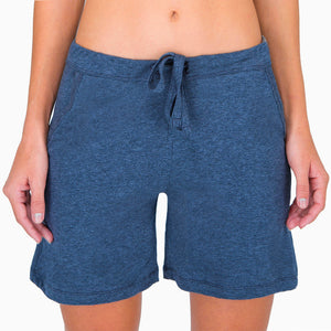 Women's Lounge Short ( Melange Blue )
