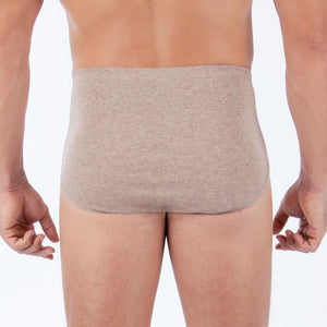 Men's Hipster Brief ( Melange Brown | 2 pack)