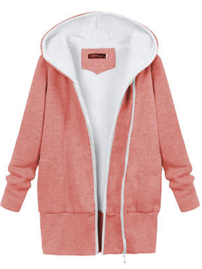 Sweatjacke mit Fleece