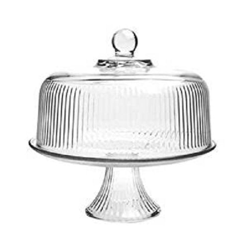 Anchor Hocking Monaco Cake Set with Ribbed Dome Crystal 1