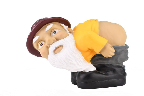 Fun Mooning Garden Gnome Figurine for Decoration at Home, Garden, Backyard and More
