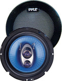 "2) NEW Pyle PL63BL 6.5"" 360 Watts 3-Way Car Audio Coaxial Speakers PAIR Blue 14.70in. x 7.30in. x 3.10in."