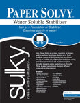 Sulky 409-02 Paper Solvy Water Soluble Fabric Stabilizer, 8-1/2 by 11-Inch, 12 Per Package
